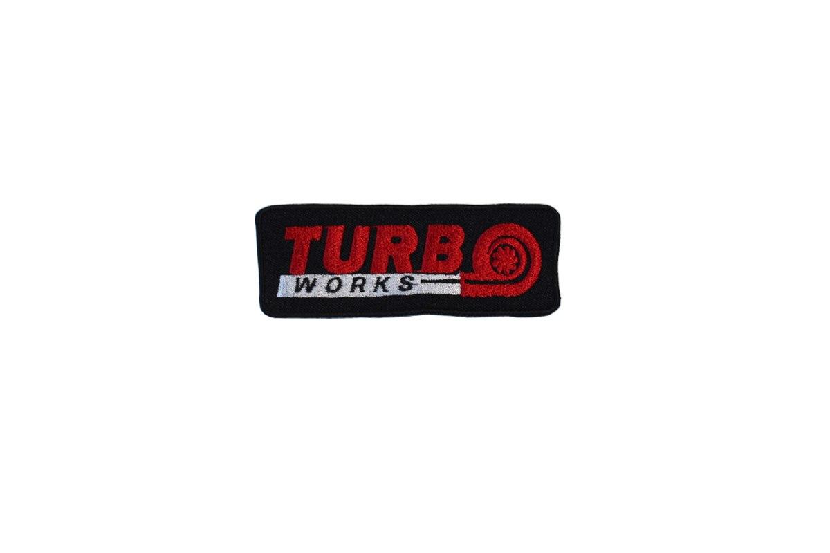 Naszywka TurboWorks 10 x 3,5cm - GRUBYGARAGE - Sklep Tuningowy